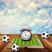 Time to read soccer book concept - stock photo