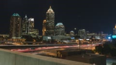 4K Atlanta, Georgia hyperlapse of midtown Atlanta from Atlantic station Stock Footage