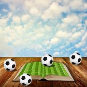 Read soccer book concept - stock photo