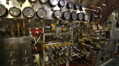 Uss Bowfin submarine instruments and dashboard - Pearl Harbor  Stock Footage