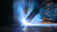 Welding Close Up Action Stock Footage