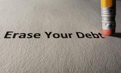 Debt problems - stock photo