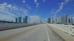Venetian Causeway Miami reopening  Stock Footage