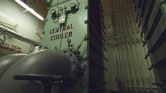 Central coolers of vessel cooling system, plate type Stock Footage