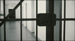 Corridor of the communist prison - MS Stock Footage