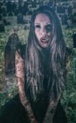 Vampire Modern Girl Tattoos Stock Photos