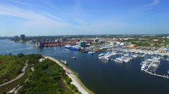Port of Palm Beach Stock Footage