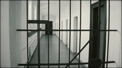Corridor of the communist prison - LS - stock footage