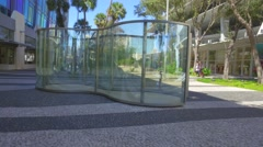 Lincoln Road glass sculpture Stock Footage