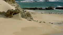 200 FPS Real Slowmo, Nice beach with slowmo water waves Stock Footage