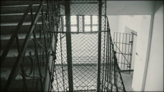 The stairs of communist prison - stock footage