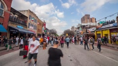 Time Lapse Shot 6th Street Austin Texas at SXSW 2015 Stock Footage