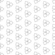 Seamless Black and White Abstract Pattern from Repetitive Concentric Squares - stock illustration