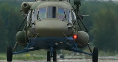 Military Helicopter Taxiing Stock Footage