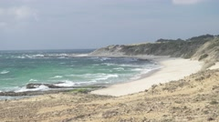 4K, Beautiful beach at Tarifa, Andalusia - stock footage