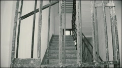 The stairs prison - vertical pan Stock Footage