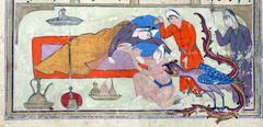 Stock Photo of Rudaba giving birth to Rustam