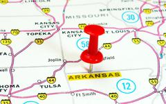 Arkansas  map Stock Photos