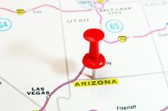 Arizona  USA  map Stock Photos