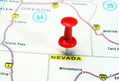 Nevada   USA  map Stock Photos
