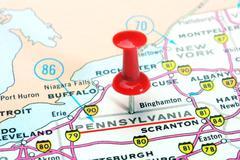 Pennsylvania  state USA map - stock photo