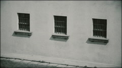 Prison cells with windows - three shots Stock Footage