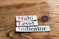 MLI- Multi Level Indicator - stock photo