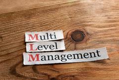 MLM- Multi Level Management - stock photo