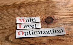 MLO- Multi Level Optimization - stock photo