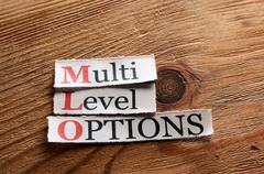 MLO- Multi Level Options - stock photo