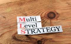MLS- Multi Level Strategy - stock photo