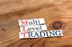 MLT- Multi Level Trading - stock photo