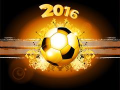 Football soccer glowing background 2016 - stock illustration