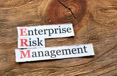 ERM - enterprise risk management Stock Photos