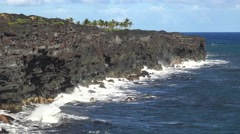 Steep coastline, cliffs landscape - Hawaii Stock Footage