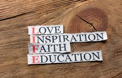 Life education  inspiration Stock Photos