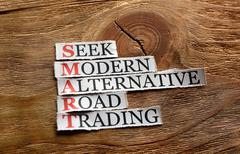 smart alternative trading  definition - stock photo