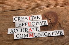 Creative team  acronym Stock Photos