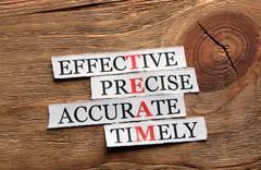 team precise  acronym - stock photo