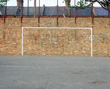 Football goal painted on wall Kuvituskuvat