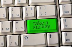 take a survey - stock photo