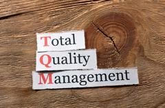 Stock Photo of TQM- Total Quality Management