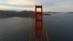 Above the Golden Gate bridge Stock Footage