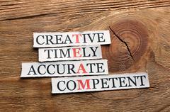 Stock Photo of creative  team  acronym