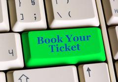 Book Your  Ticket Stock Photos