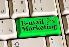 Email Marketing on keyboard - stock photo