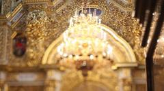 Church Interior Decoration - stock footage