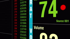Fictional stock ticker. Dynamic graph and values. Stock Footage