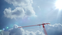 Building crane animation. construction - stock footage