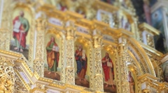 Icons in the Christian Church Stock Footage
